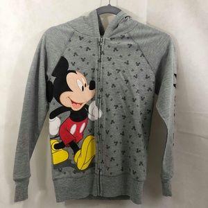 Disney Mickey Mouse zip-up Hoodie sz 3/5 NWOT